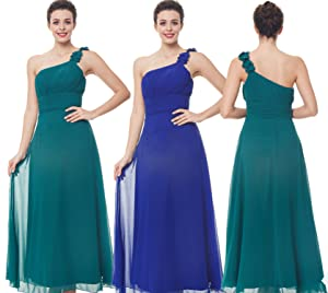 Pure and cute bridesmaid prom dress, light color, adjustable back criss cross straps