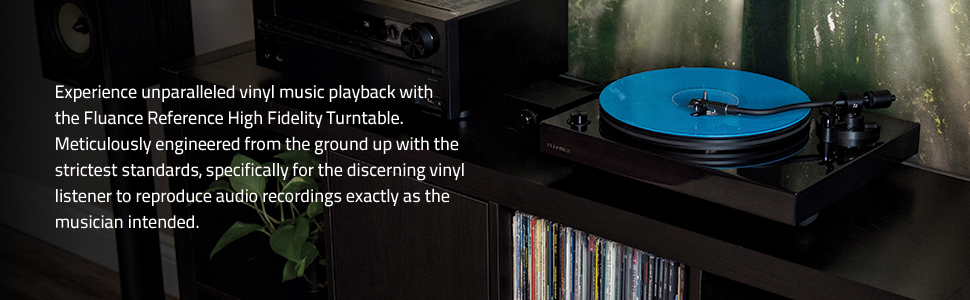 Experience unparalleled vinyl music with high fidelity turntable