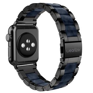 mens black apple iphone iwatch band 42mm lightweight sport strap wristband metal buckle series 3 2 1