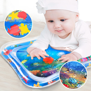 Sugoiti Inflatable Baby Water Mat 26x20 Great for Babys Stimulation Growth Premium Tummy Time BPA Free Durable for Infants /& Toddlers Tummy Time Perfect Fun Time Play Activity Center