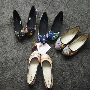 floral slip-on flats for women