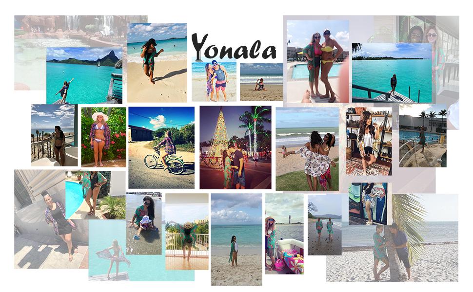 Yonala Summer Womens Beach Wear Cover up Swimwear