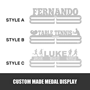 personalized medals, customize medals, customize medal hanger, customize medal display