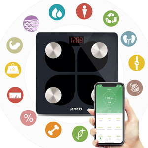 13 metrics reading in RENPHO rechargeable scale