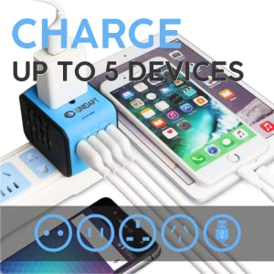 charge up to 5 devices