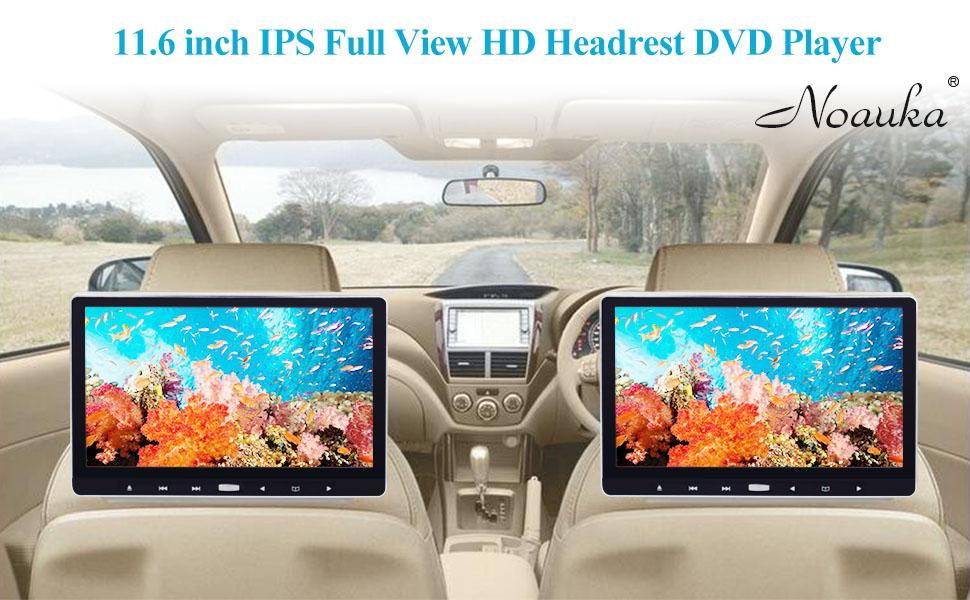 11.6 Headrest DVD Player
