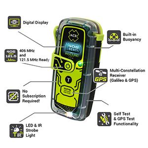 ACR PLB-425 Special Features, plb. emergency beacon, survival, 406 MHz