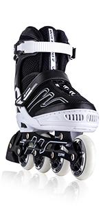 EXTHRAX BLACK WHITE ADJUSTABLE INLINE SKATES