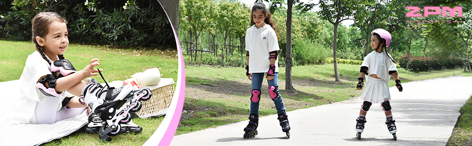 2pm Sports Cira Pink&Black Adjustable Inline Skates