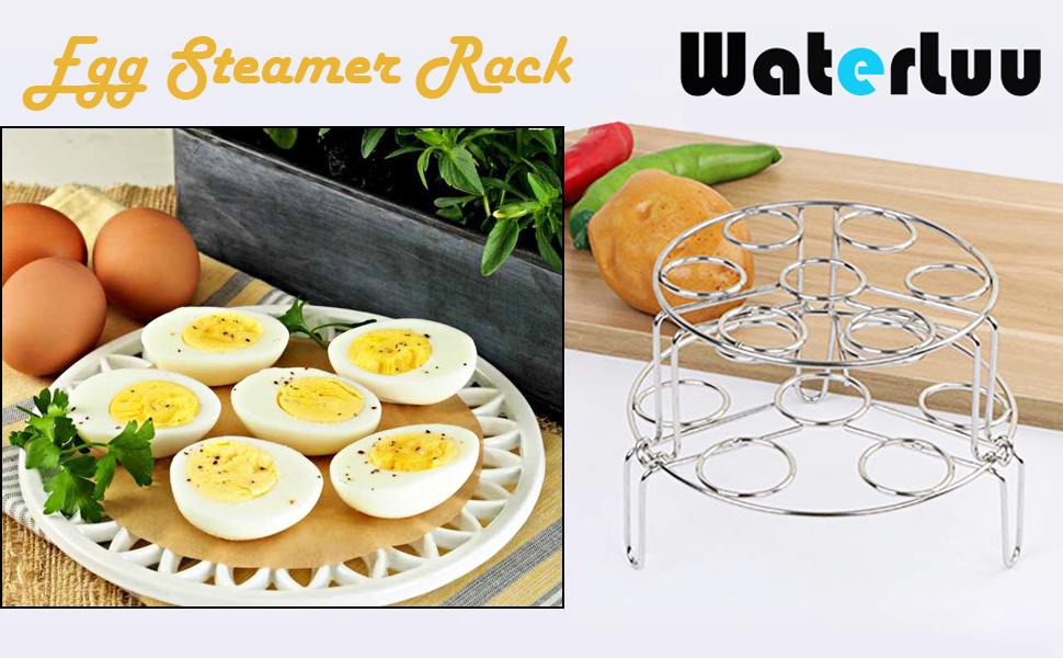 Egg Steam Rack Trivet for pressure cooker pot 5,6,8 qt  2 Pack Cooling Hot Plate