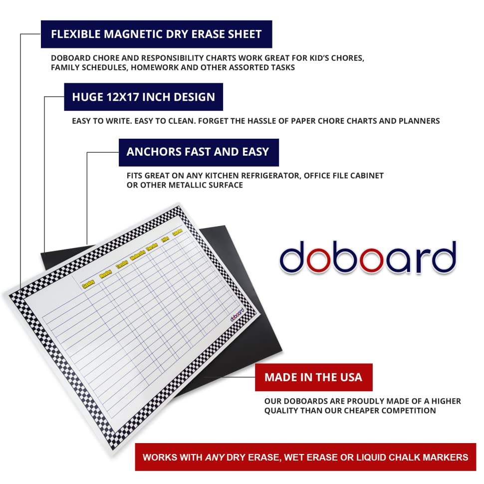 amazon com doboard large 12 x17 magnetic flexible dry erase chart
