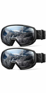 2-pack ski goggles for kids & youth