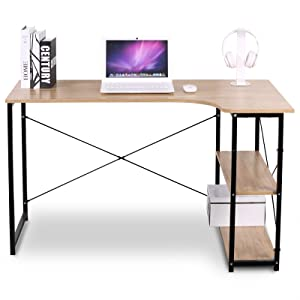 Amazon.com: WOLTU Office Computer Desk for Small Spaces with 3 ...