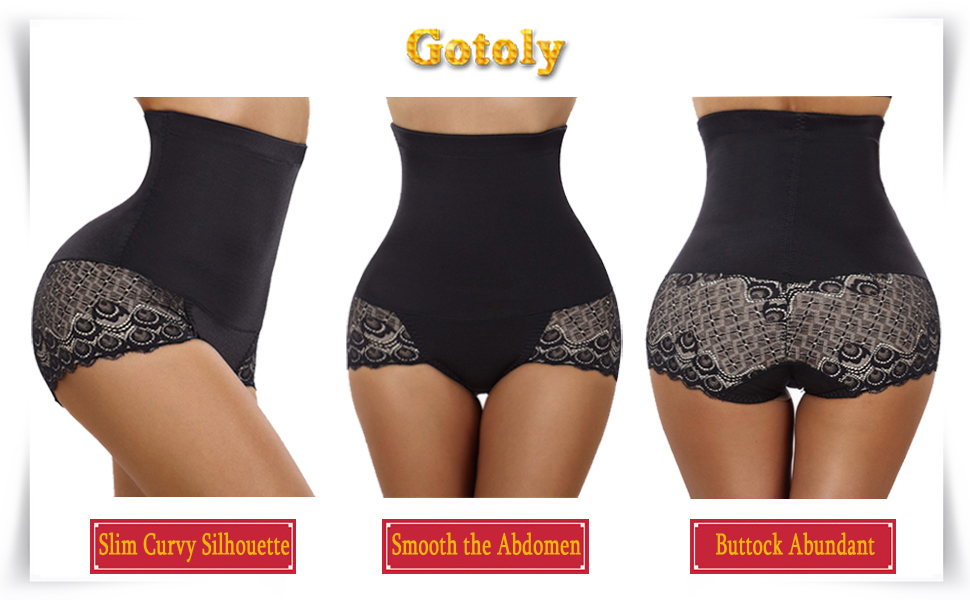 663a5af837 Gotoly Invisable Strapless Body Shaper High Waist Tummy Control ...