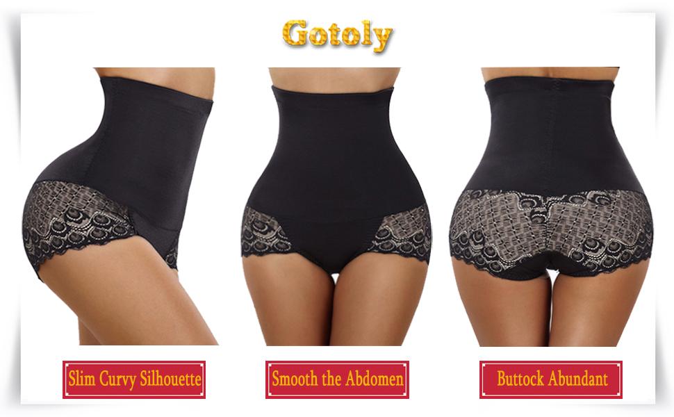 ec984e74f4 Gotoly Women Body Shaper High Waist Butt Lifter Tummy Control Panty ...