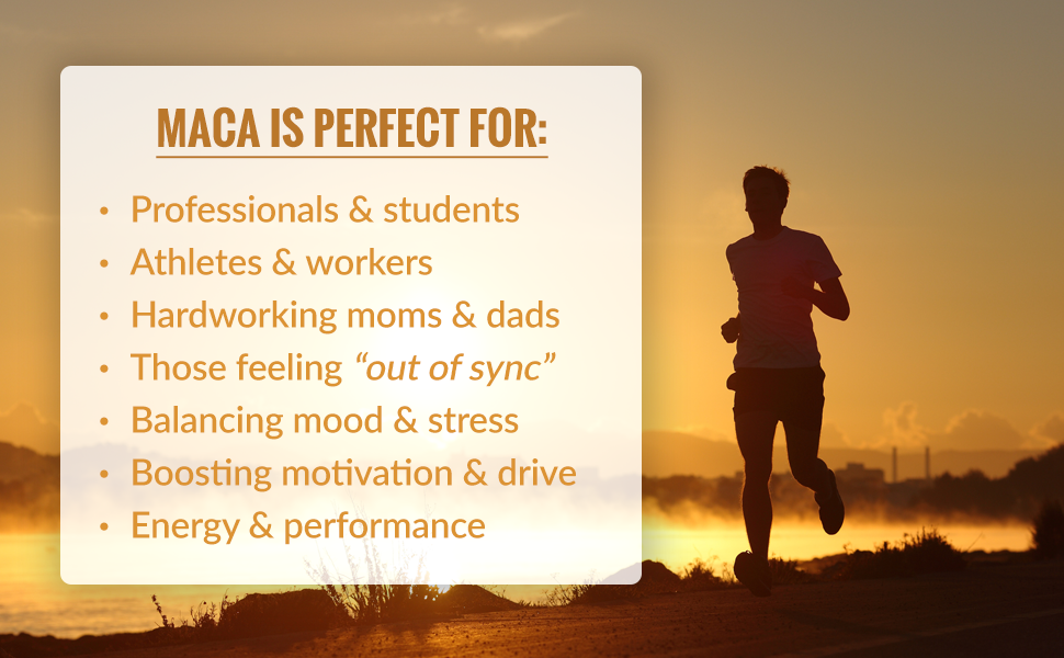 Maca is perfect for