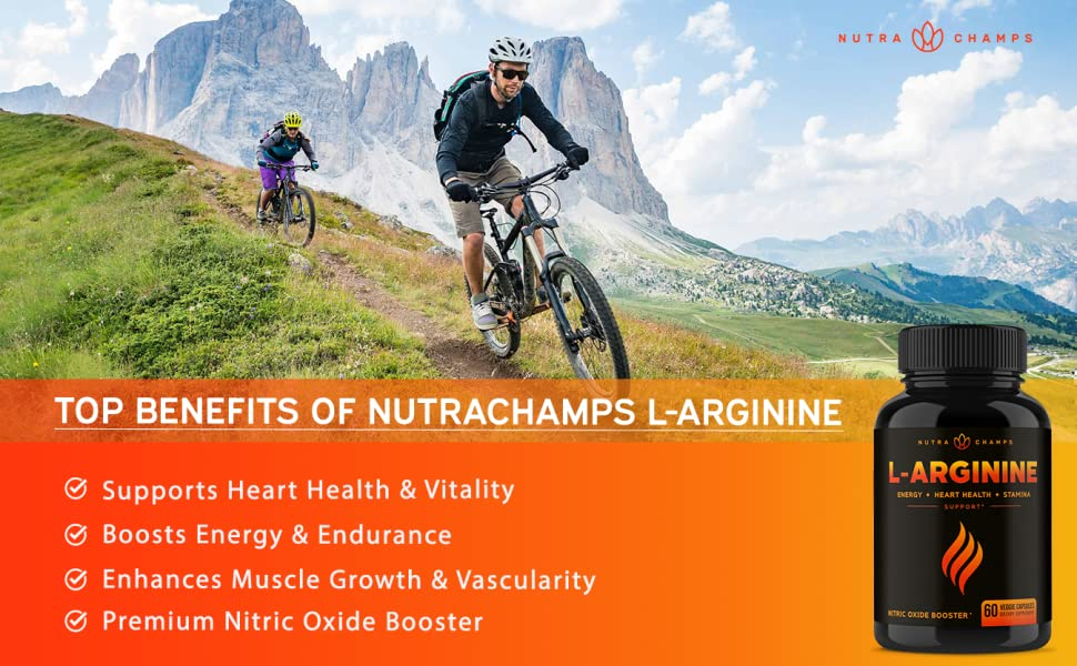 Premium L Arginine 1500mg Nitric Oxide Supplement - Extra Strength for  Energy, Muscle Growth, Heart