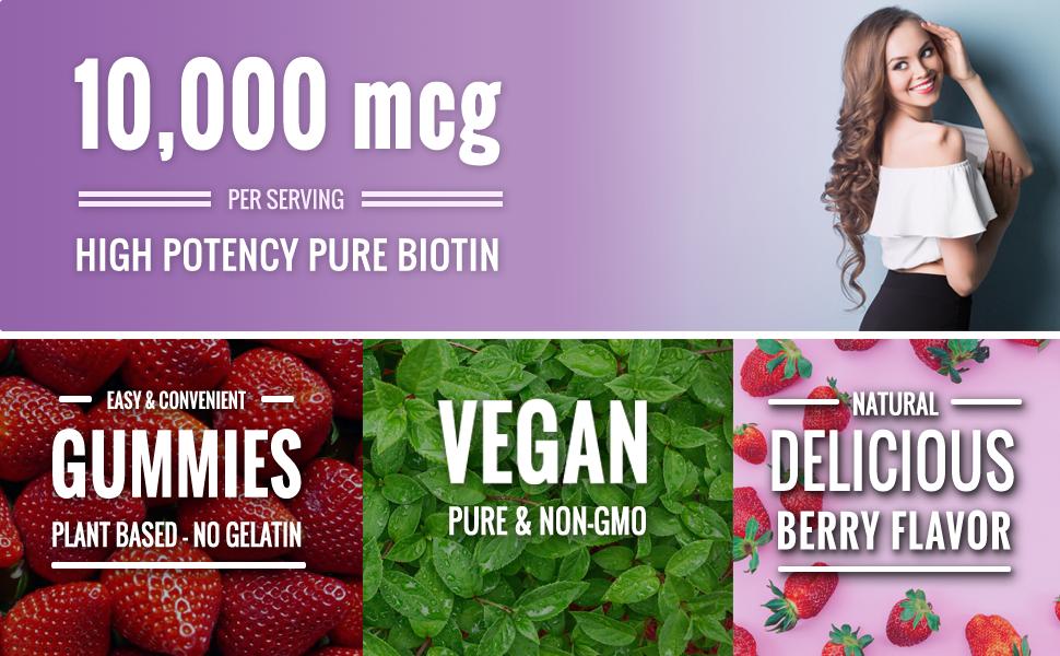 pure biotin supplement gummy