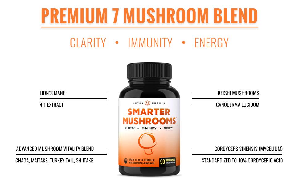 Amazon.com: Complemento de mushroom premium con cordyceps ...
