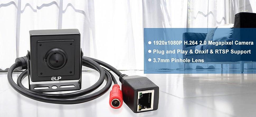 Amazon com : ELP 1080P Megapixel Industrial Mini IP Camera