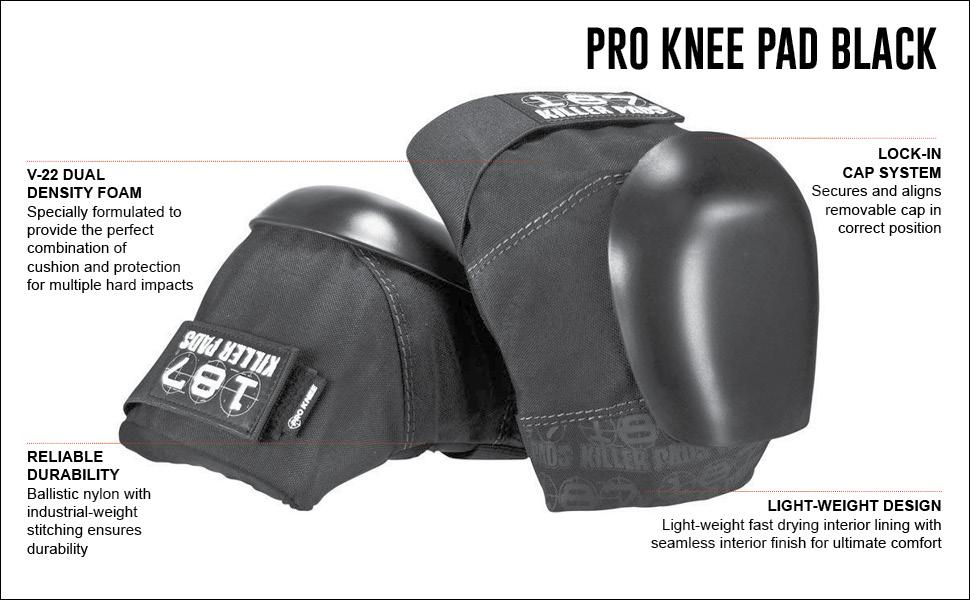 Pro Knee Pad Blk/Blk