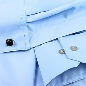 blue dress shirt with convertible cuffs