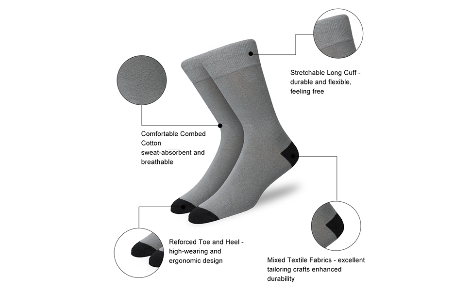 Origin Ties Mens Novelty Crew Dress Socks 3 Pack Size 8-12 with Gift Box