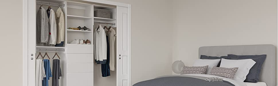 Amazon.com: Modular Closets 14 in. Deep Wood Double Hanging ...