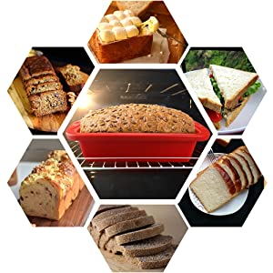 bread loaf pan with perfect size and high quality silicone for multiple homemade baking