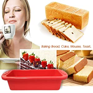 flexible silicone cake mould for multi-purpose like cake,bread and mousse