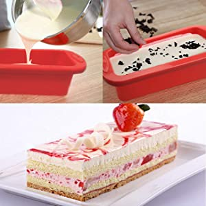 non stick silicone loaf pan for baking cake,bread and mousse