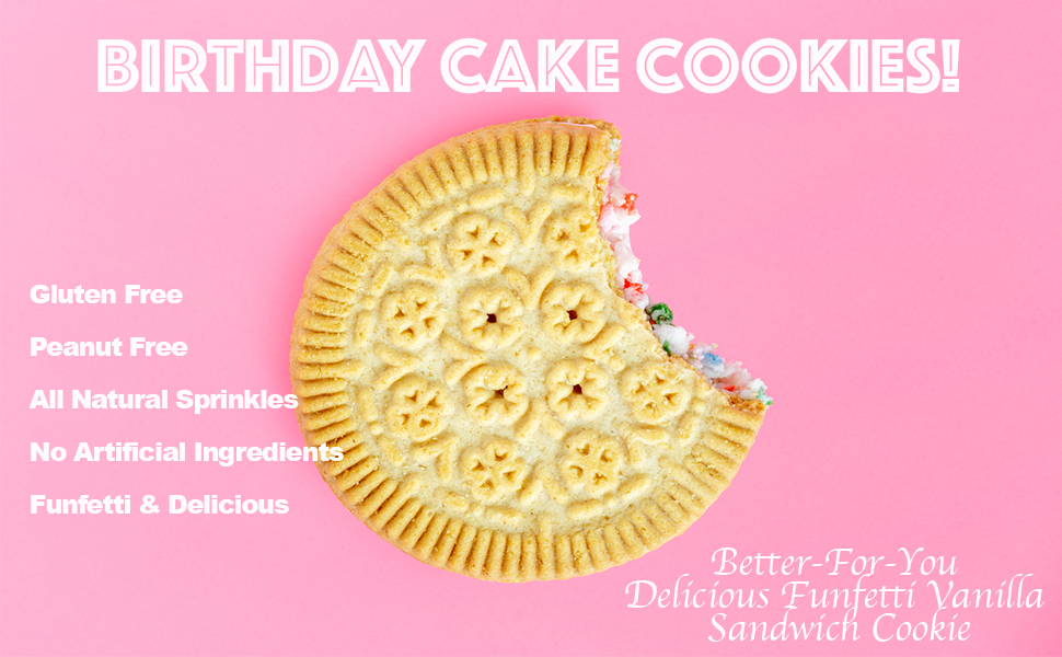 Amazon Goodie Girl Cookies Birthday Cake Sandwich Cookies