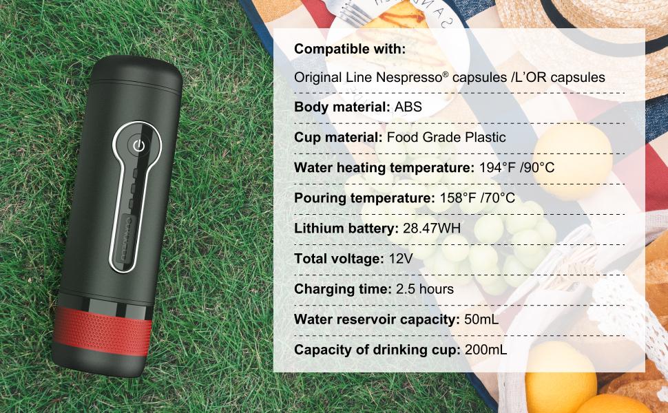 Amazon.com: Conqueco Máquina de café eléctrica portátil ...