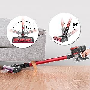 Amazon Com Moosoo Cordless Vacuum Cleaner 17kpa Strong