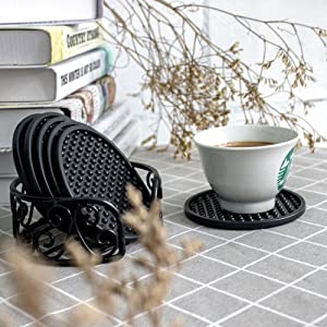 Simple and Modern Silicone Thick Glass Coaster Place Mat Anti-slip Cup Mat Ws3