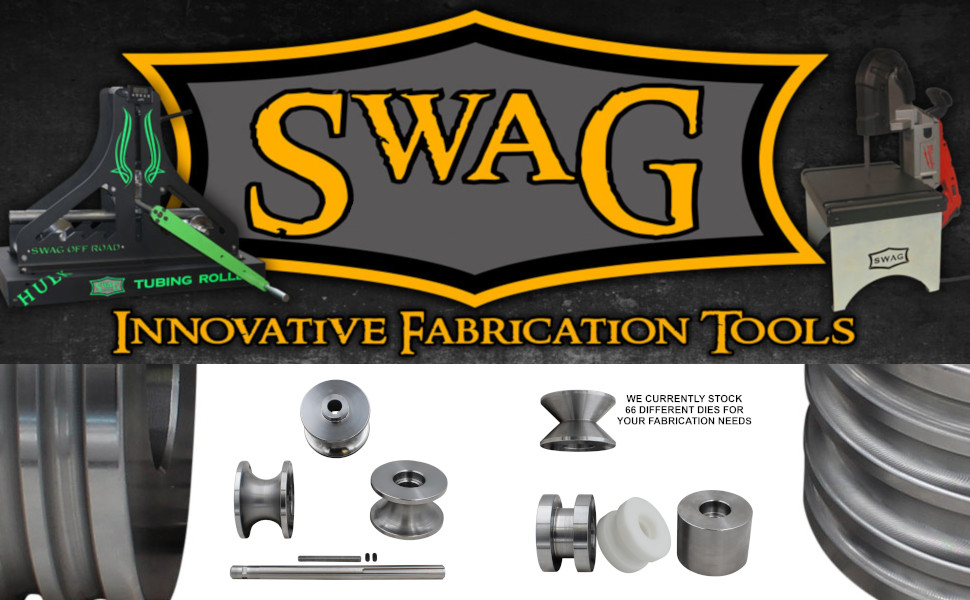 SWAG Off Road Tubing Roller Dies Compatible With Harbor Freight Tube Roller  1 25