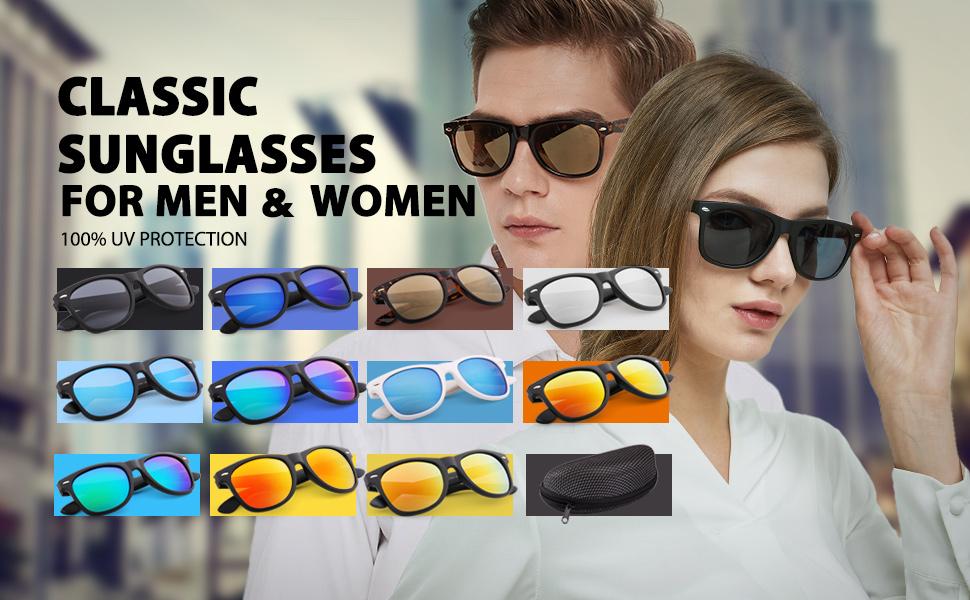 a7c5b76b6a Amazon.com  Wayfarer Style Sunglasses for Women Men