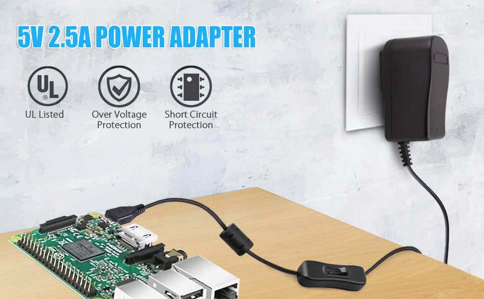 Amazon.com: 100 – 240 V AC a 5 V 2.5 A adaptador de ...
