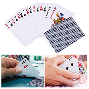 LotFancy Playing Cards, 100% Plastic, Waterproof - 2 Decks of Cards with Plastic Case, Poker Size Standard Index, for Magic Props, Pool Beach Water ...