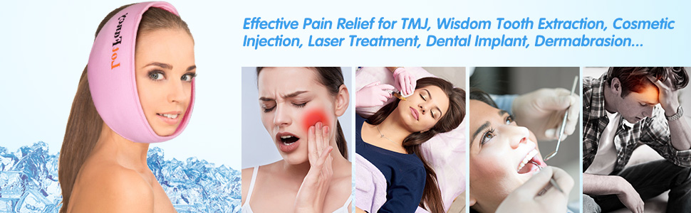 pink hot cold pack for TMJ