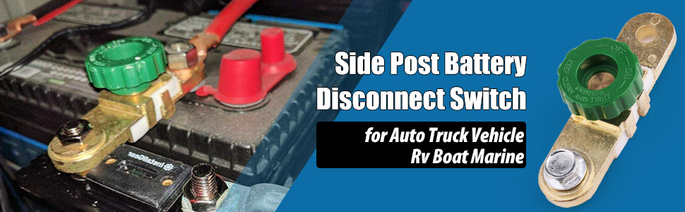 side post battery disconnect switch for rv car vehicle