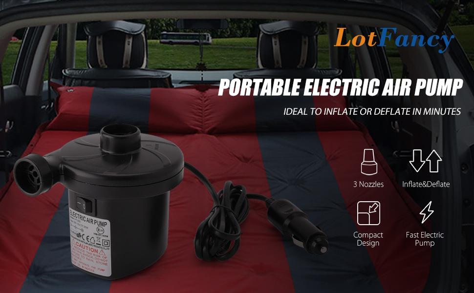 Amazon Com Lotfancy Portable Air Pump 12v Dc Electric