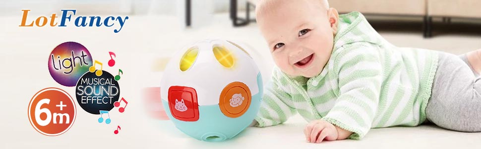 Christmas Xmas Move and Crawl Baby Ball Rolling Toys for Baby Kids Toddler Gift