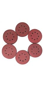 125mm Sanding Discs KLINGSPOR 5 Sandpaper 8 Hole Pads GRIT 220-50 Discs Box