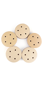 50x Sanding Discs p120 Grain 75mm 0h Orbital Sander Sanding Paper Velcro