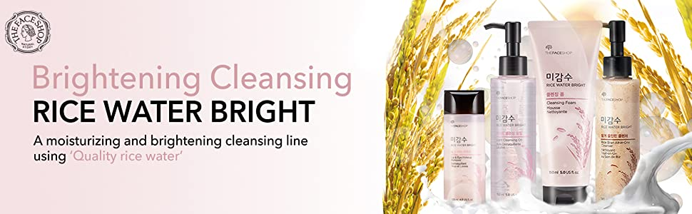 the face shop brightening cleansing rice water bright