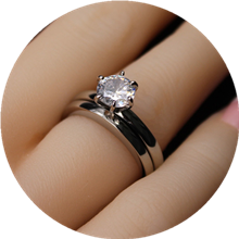 Women Engagement Ring Set