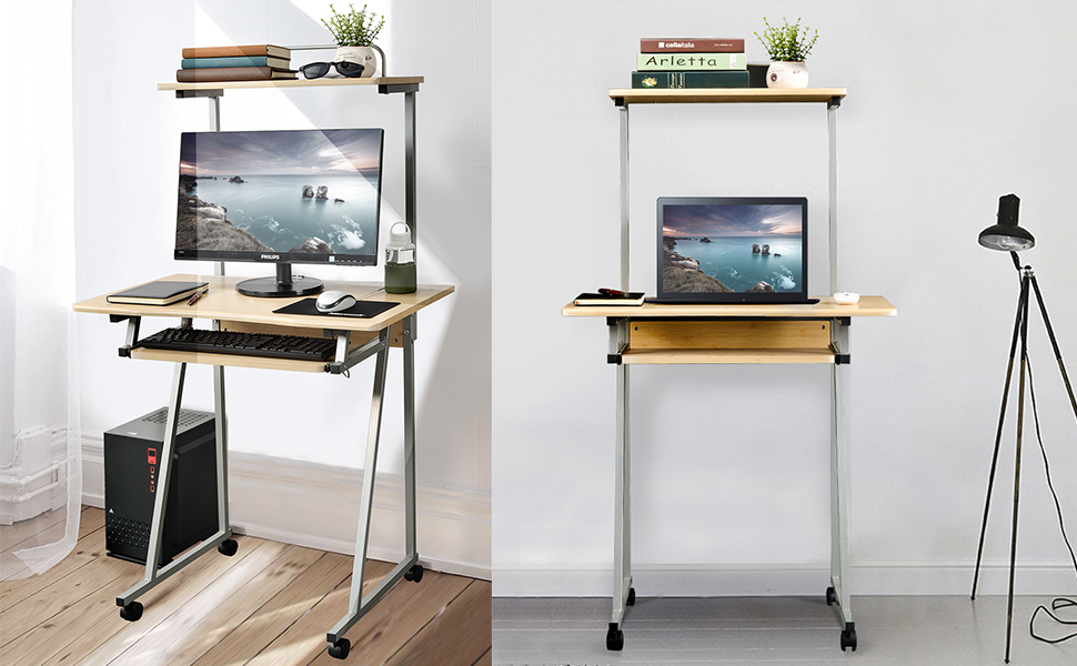 This Steel Computer Tower Desk Makes It Easy To Transform Almost Any Room  Into Your Personal Office.