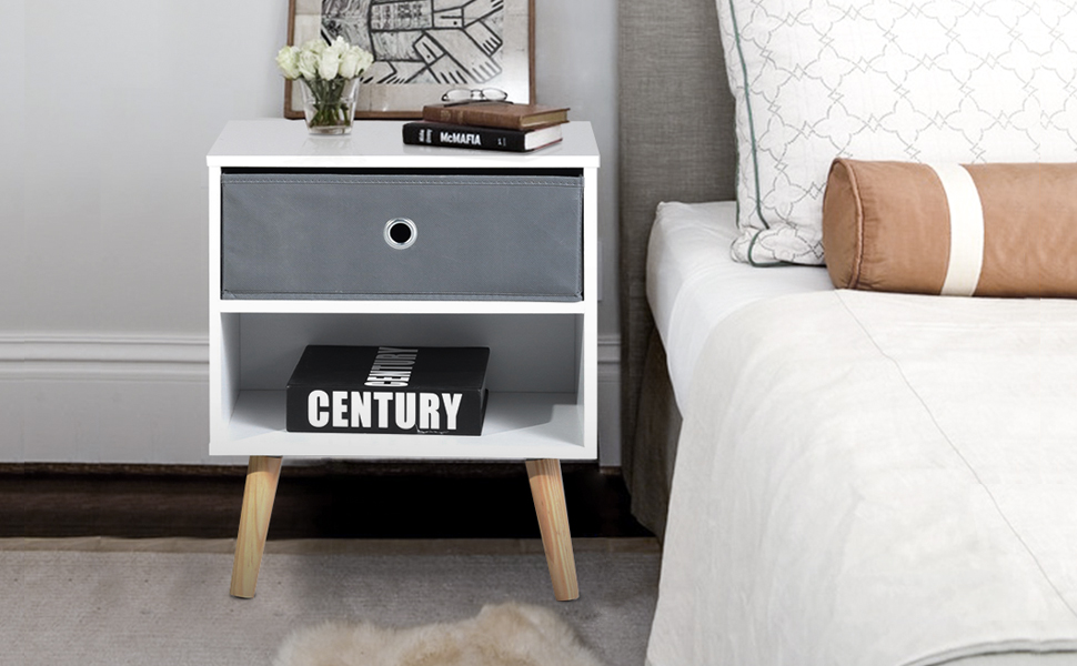 Tremendous Details About Aingoo Modern End Table For Sofa Bed White Mid Century Beside Table Night Stand Pdpeps Interior Chair Design Pdpepsorg