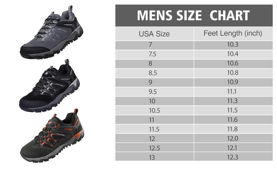 CAMEL CROWN Hiking Shoes Men Non Slip Sneakers Low Top for Outdoor Trailing Trekking Walking